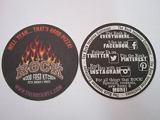 Beer Breweriana Coaster ~ The ROCK Wood Fired Kitchen, Pizza, Burgers, & Spirits