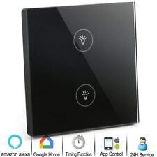 YISUN Smart WIFI Light Switches, 1 Gang Touch Wall Switch Panel Wall Box