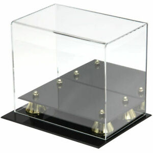 Steiner Deluxe Acrylic Mini Helmet Display Case with Mirrored Back Gold Risers