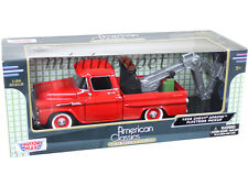 MOTORMAX 75343 1958 CHEVY APACHE FLEETSIDE PICK UP TOW TRUCK 1/24 DIECAST RED