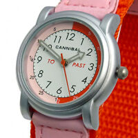 Cannibal Childs Time Teacher Watch Analog Red. Hook & Loop Sports Strap CT203-06