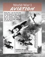 UNION ISLAND 2015 - WORLD WAR I - AVIATION STAMP SOUVENIR SHEET MNH