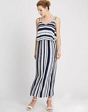 Marks and Spencer Viscose V-Neck Striped Dresses for Women