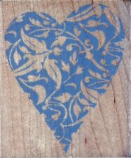 Hero Arts - Rubber Stamp on Wood - Deco Heart Print - L1897