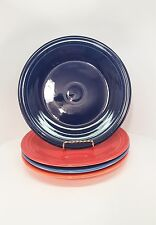 Fiestaware mixed colors Dinner Plate Lot of 4 Fiesta 10.5 inch plates 4C1M9