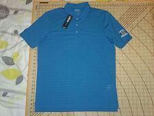 Mens Large Bright Aqua Blue Adidas St. Charles C.C. Polo Shirt - Nwt