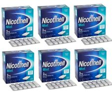 Nicotinell Mint 2mg Medicated Chewing Gum 204 Pieces  6 boxes Expiry 02/ 2021