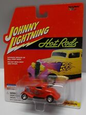 2001 Johnny Lightning - Hot Rods - 1934 Ford Coupe Red W/ Flames #442-01