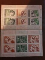 Russia USSR - 1975 - 500th Birth Anniv of Michelangelo. - 2 mini sheets - MNH