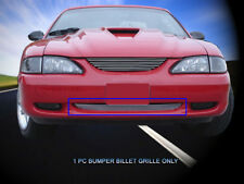 Polished Billet Grille Grill Bumper Insert Fits 1994-1998 Ford Mustang