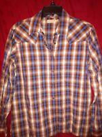 Rockies Womens Long Sleeve Button Down Western Shirt size XL