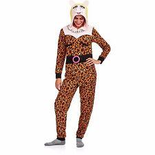 Miss Piggy Pajamas womens XS hood one piece costume new 0/2 muppets union D4