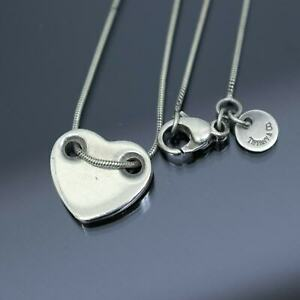 TIFFANY & CO. Heart Pendant Snake Chain Necklace Sterling Silver 925