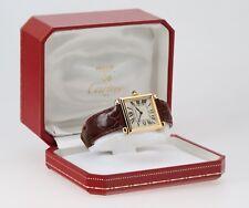 Cartier Paris Tank Obus 1630 2 18k Yellow Gold Wristwatch