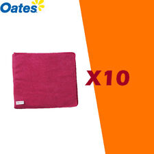 OATES MICROFIBRE CLOTH RED X 10
