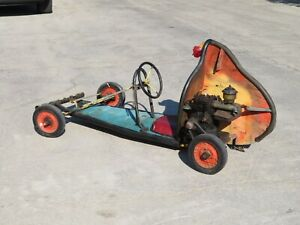 Vintage 1940's OLD SCHOOL GO-KART Complete with Briggs & Stratton Engine MUSEUM!
