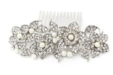 Wedding Hair Comb Rhinestones pearl Bridal Hair Accessories for Bridesmaids USA