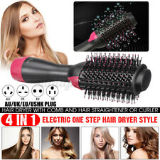 4 In1 One Step Hair Dryer&Volumizer Brush Straightening Curling Iron Comb