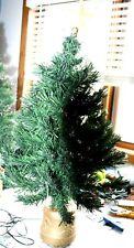 2.5 ft Green Fibre Optic Christmas Tree Multicoloured Lights Usb & Mains Plug