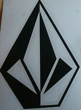 VOLCOM vinyl snowboard skate surf car campervan vinyl sticker black 100mm