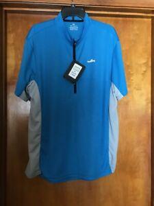 4ucycling Men's Blue & Gray Cycling Shirt/w Back Pockets Size 3XL NWT FAST SHIP