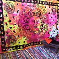 soleil lune Tapisseries hippie psychédélique simple Tenture MURAL INDIEN cravate