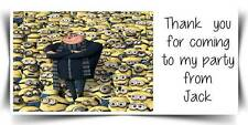 Personalised Despicable Me Minions Party Stickers Thank You  Address Labels