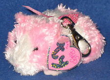 TY BEANIE BABY KEY CLIPS METAL CLIP - ROSA the GUINEA PIG - MINT with MINT TAGS