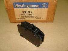 NEW WESTINGHOUSE CUTLER HAMMER QCL1005 QUICKLAG TYPE C 1 POLE 5 AMP 120 240 VAC