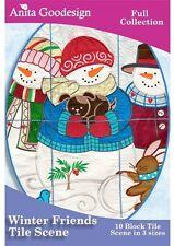 Anita Goodesign Winter Friends Embroidery machine Design CD
