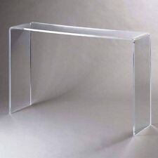 Plexycam Tavolino Consolle in Plexiglass Trasparente L60xP33xH75 Spessore 10mm