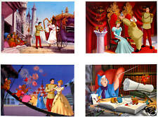 "4 Disney Store CINDERELLA 2, II Lithographs 2002 11"" X 14"" Lithos in a Portfolio"