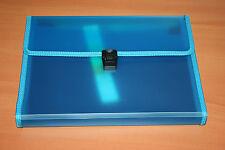Exacompta Trieur Familial valisette 12 compartiments 24 x 32 cm Bleu . Neuf