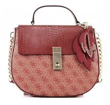 GUESS Bolsa Para Cadáveres Cruz Top Handle Flap Bordeaux