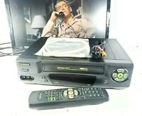 Fisher FVH-T619 4 Head HiFi Stereo VCR VHS Player Recorder w/ Remote - Tested