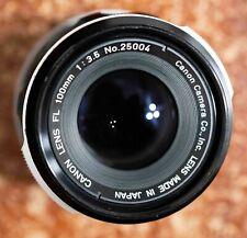 Canon FL 100mm f/3.5 Telephoto Lens