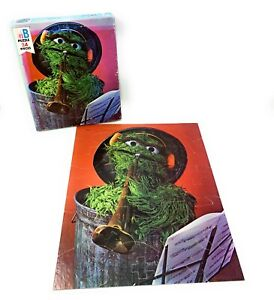 Sesame Street Muppets (Oscar the Grouch) 24 Piece Puzzle 1978 4670-4