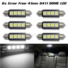 (6) White 4SMD Error Free LED Map Dome Interior Decoration Light Bulb 42MM 578