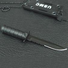 Mini Stainless Steel Necklace Straight Knife Camping Fishing Letter Opener Kits