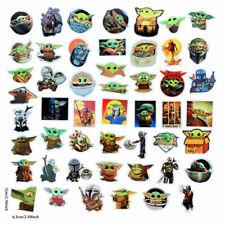 Baby Yoda Star Wars Mandalorian Vinyl Stickers (50 Pcs) for Laptop, Bike etc