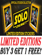 TOPPS STAR WARS SOLO A STAR WAR STORY *LIMITED EDITIONS FOILS* Buy 3 Get 1 Free!