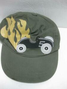 GYMBOREE race car green baseball HAT cap boys 4T-5T
