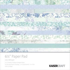 Lilac Whispers Paper Pad 6.5x6.5 by Kaisercraft Pastel Floral Spring Celebration