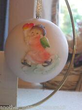 1980 Anri Ferrandiz Christmas Ornament - Angel Child w/ Heart Candle - Le Italy