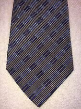 MONDO DI MARCO MENS TIE 3.75 X 61 BROWN WITH BLUES ACCENTS