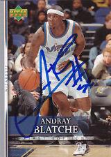 ANDRAY BLATCHE WASHINGTON WIZARDS SIGNED 2007-08 BASKETBALL CARD BROOKLYN NETS
