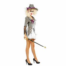 Ladies Zombie Pirate Ghost Lady Halloween Outfit Fancy Dress Costume
