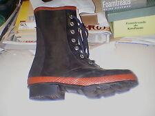 New Men's CEBO #33489 black 7 eyelet rubber boots size 9