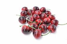 20 Stück Deko Obst Kirschen Fake Fruit Modell zur Dekoration