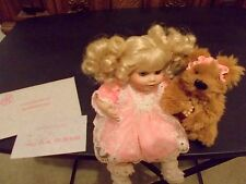 Marie Osmond Tiny Tots Peek A Boo Doll + Annette Funicello Bear COA + Necklace